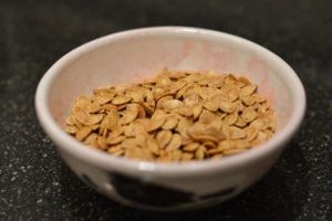 Pumpkin Seeds Baked, In Bowl