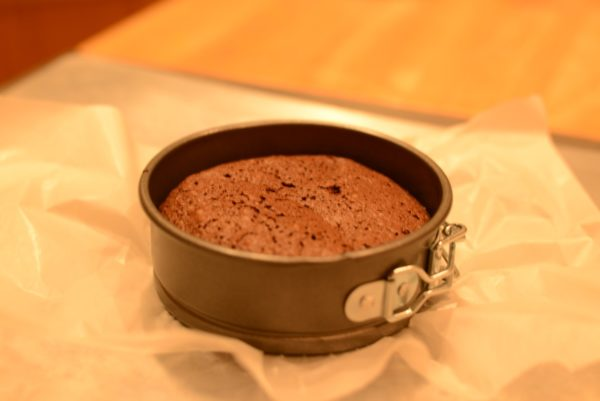 Personal Flourless Cake in Pan/Robin Scott